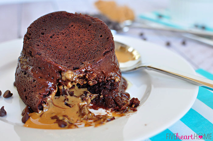 One-Minute Chocolate Peanut Butter Mug Cake