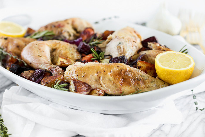 Perfect Roasted Chicken and Root Vegetables