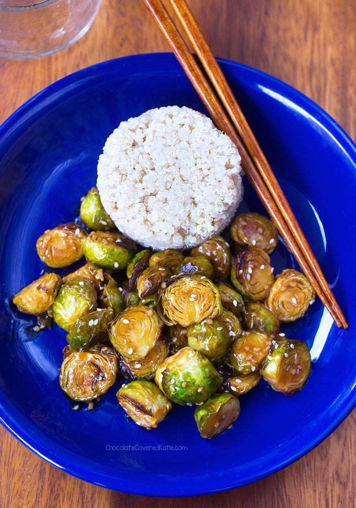 Sticky Sesame Brussels Sprouts!