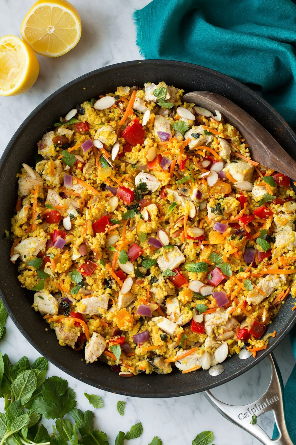 One Pan Moroccan Chicken and Couscous