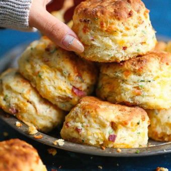 Bacon Cheddar Chive Biscuits