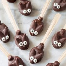 Easter Bunny Chocolate Peanut Butter Truffle Spoons