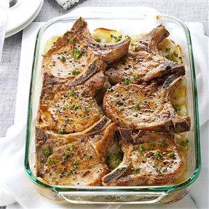 Pork Chops with Scalloped Potatoes Recipe