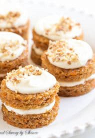 Mini Carrot Cakes with Candied Pecans