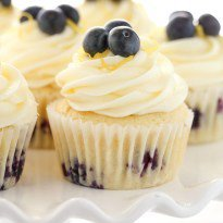 Lemon Blueberry Cupcakes with Lemon Cream Cheese Frosting