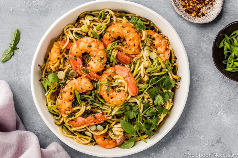 Spicy Thai Zucchini Noodles with Shrimp