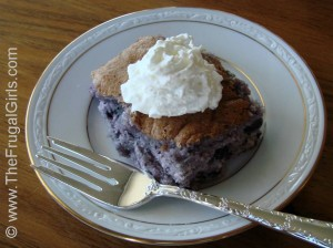 Blueberry Angel Food Cake Dessert Recipe