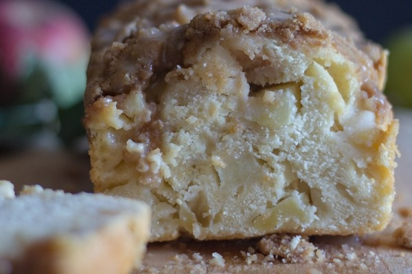 Apple Crumb Bread with Maple Caramel Sauce