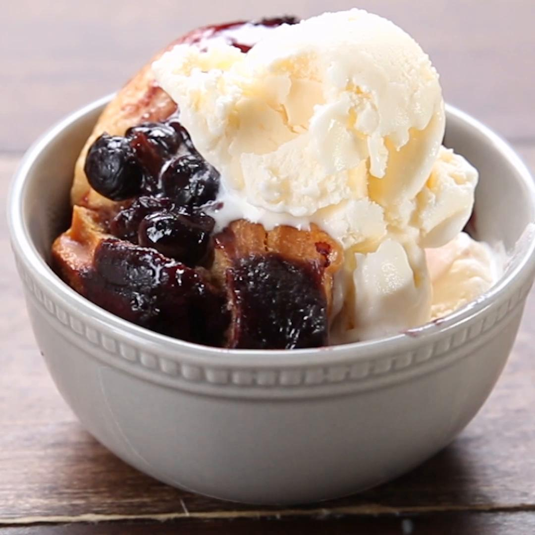 Slow-Cooker Blueberry Cobbler Recipe by Tasty