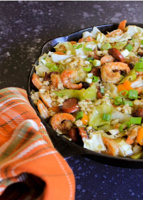 Cajun Cabbage Shrimp Jambalaya