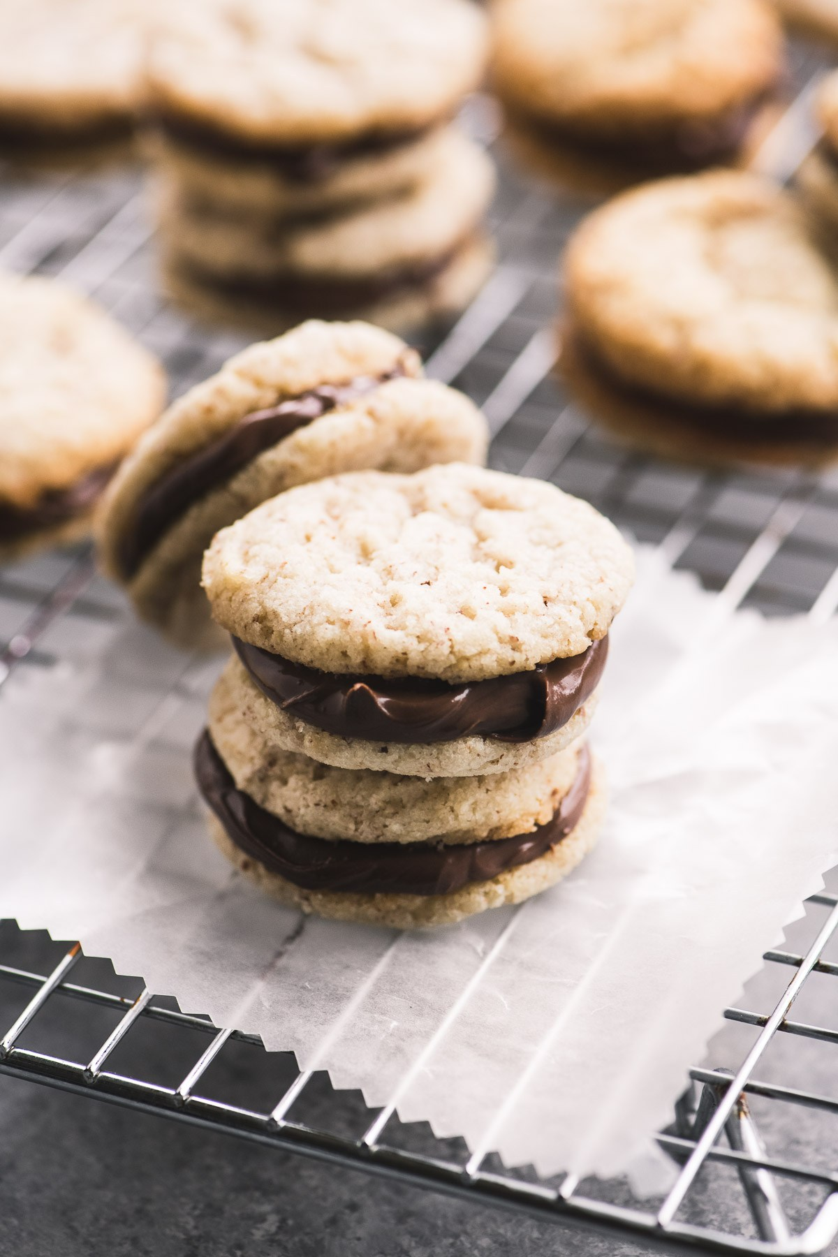 Nutella Sandwich Cookies