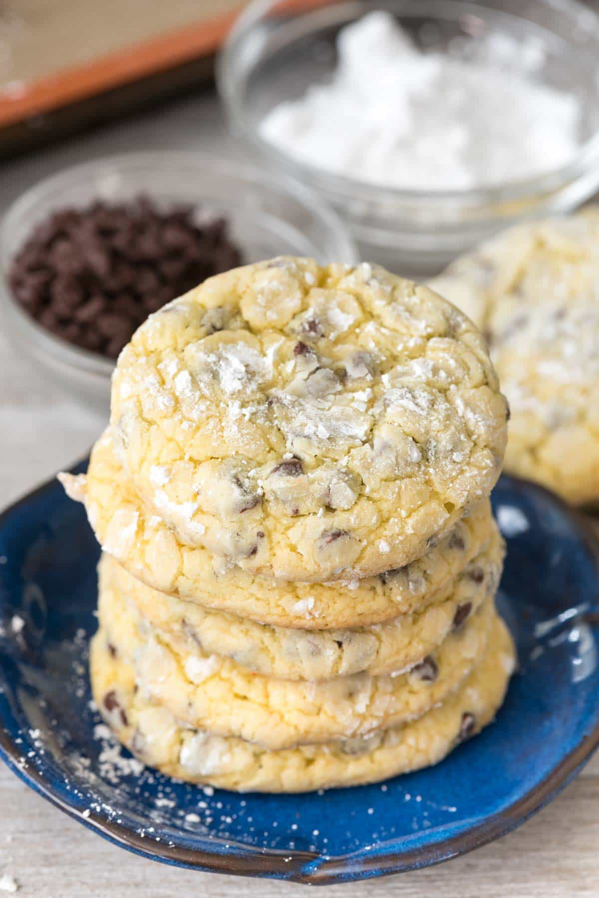 Easy Cake Mix Crinkle Cookies
