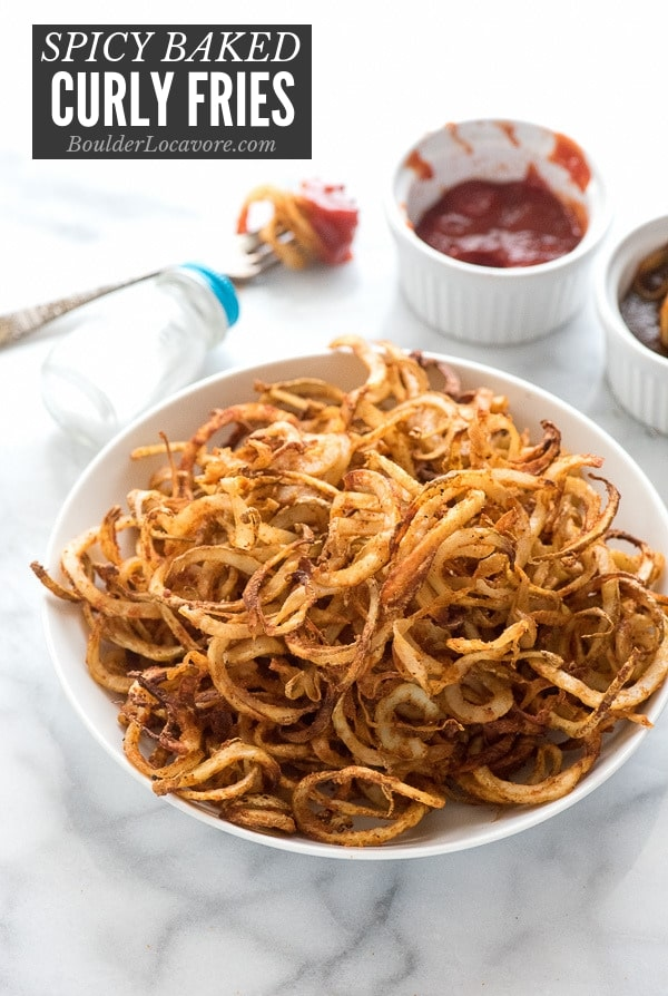 Spiralizer Spicy Baked Curly Fries Recipe