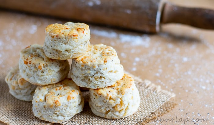 Asiago Cheese and Black Pepper Biscuits