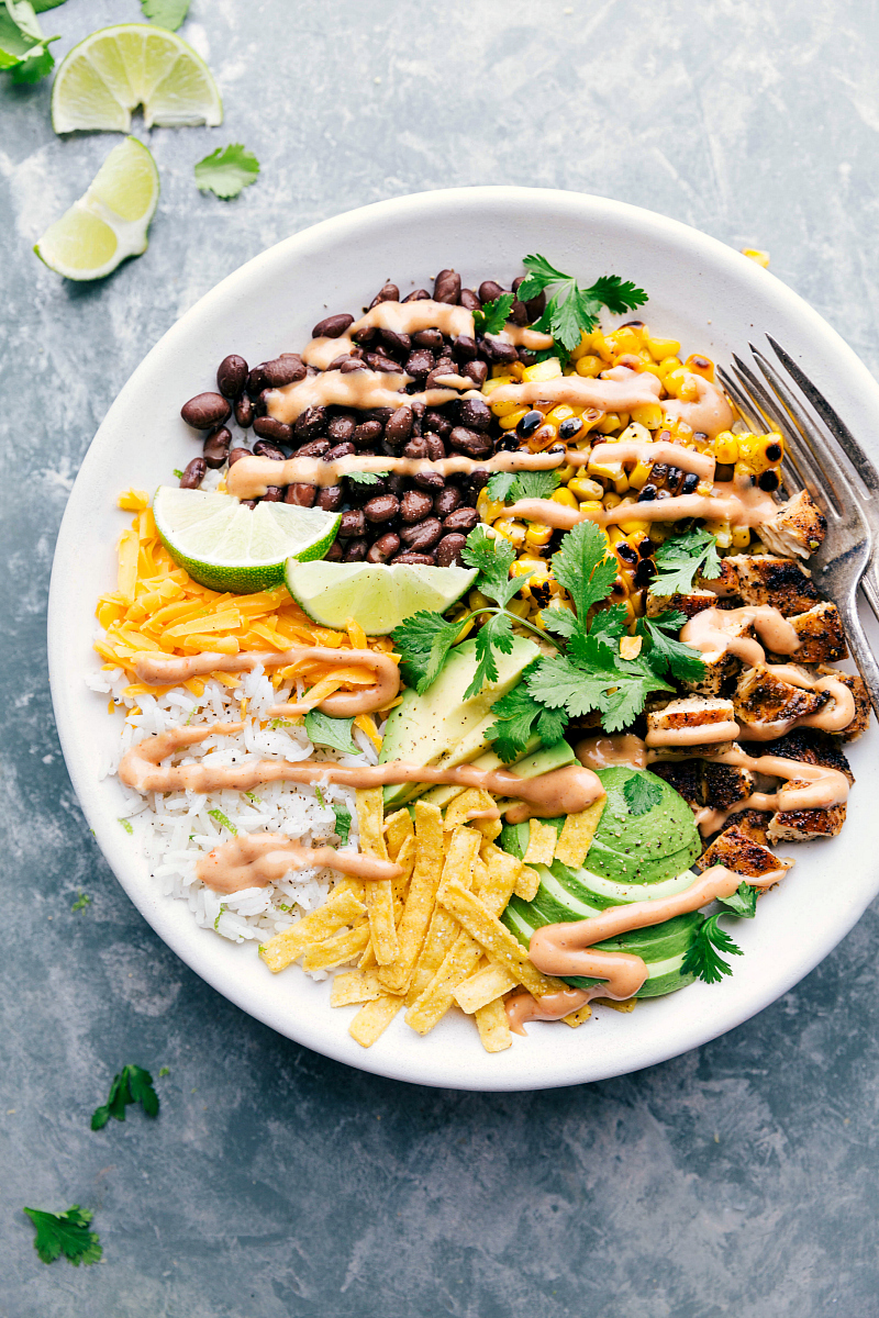 Grilled BBQ Chicken Rice Bowl