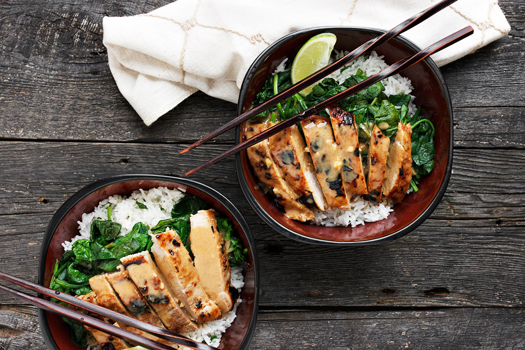 Thai Pork Rice Bowl with Lime Rice