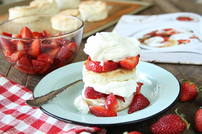 Strawberry Shortcakes with Sweet Cream Cheese Biscuits