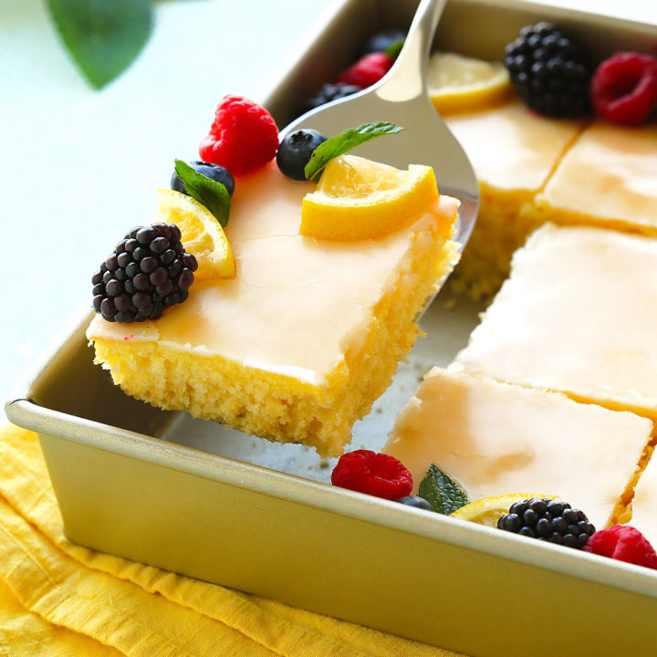 The Lemoniest Lemon Sheet Cake