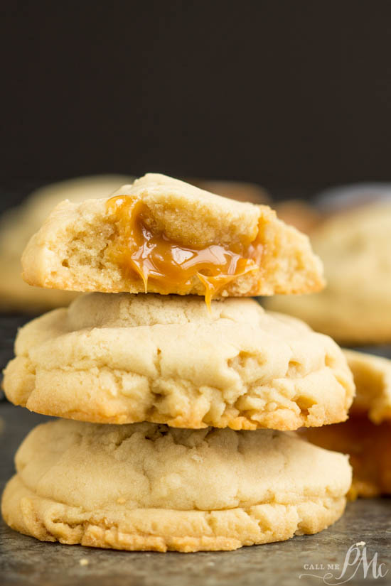 Caramel stuffed sugar cookies