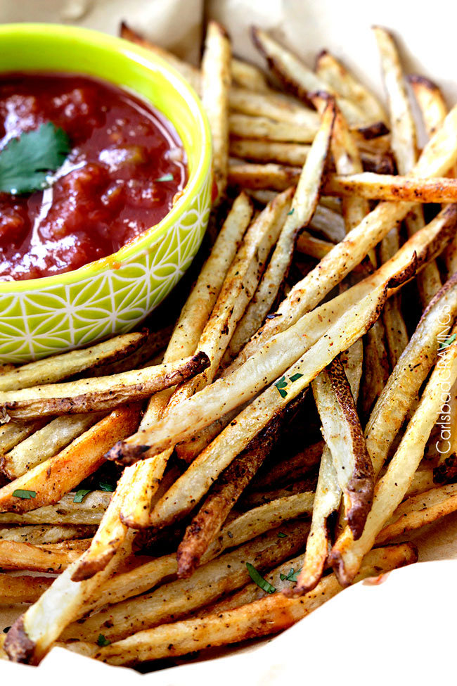 Mexican Street Fries with Salsa Ketchup