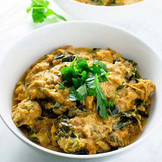 African Peanut Soup with Chicken