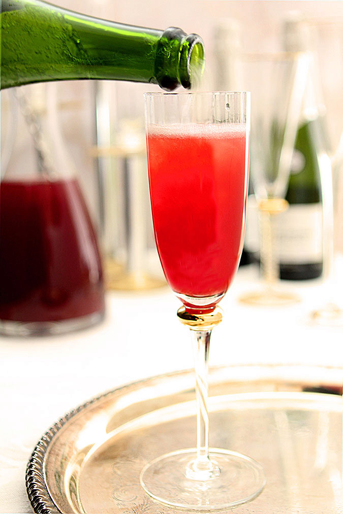 Pomegranate and Blood Orange Mimosa