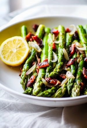 Peppered Candied Bacon and Asparagus {Paleo, Gluten Free}