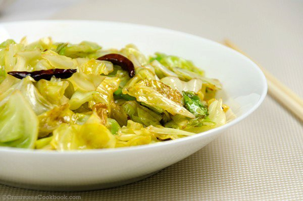 Chinese 4 Ingredient Fried Cabbage