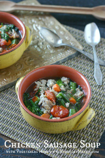 Chicken Sausage Soup with Vegetables