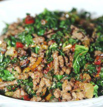 Sauteed Ground Beef and Kale