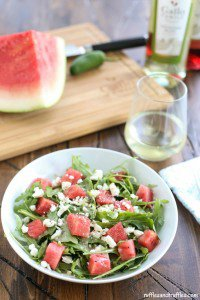 Spicy Watermelon Salad for #SundaySupper