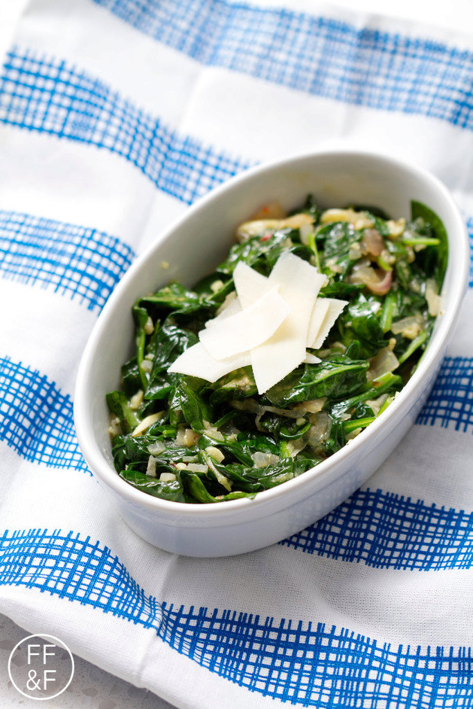 Let's Eat | Garlic and Parmesan Sauteed Spinach