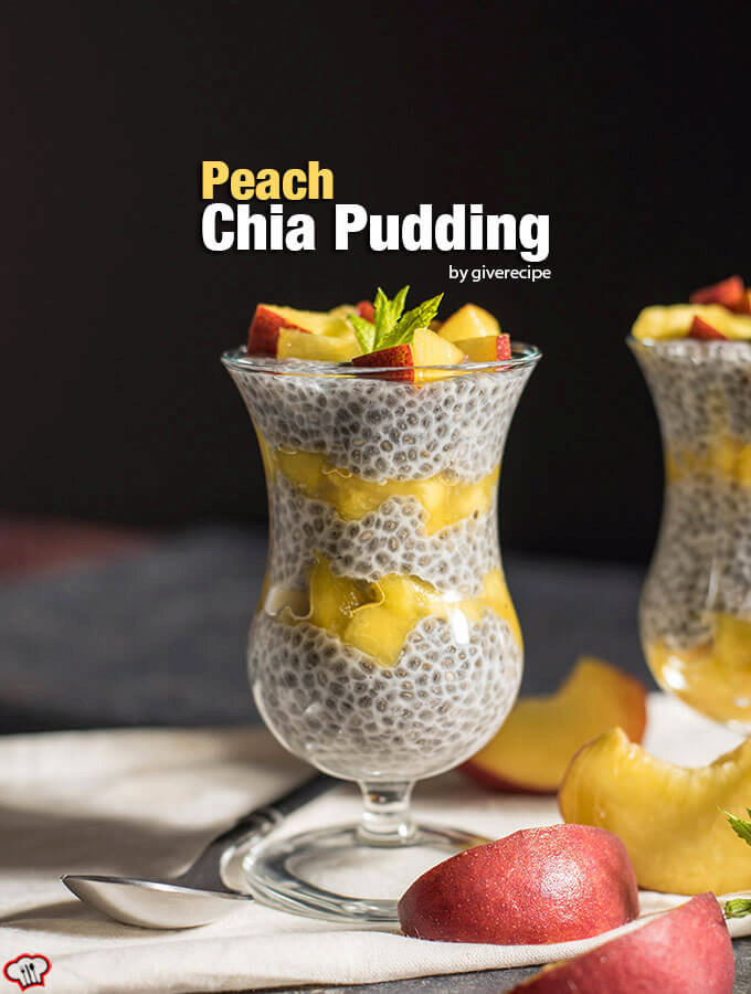 Peach Chia Pudding
