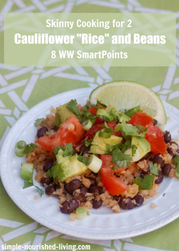 Skinny Cauliflower Rice and Beans Recipe for Two