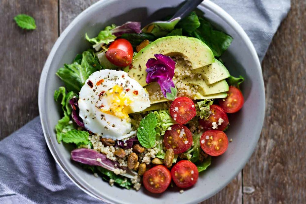 Poached Egg Amp Avocado Breakfast Salad
