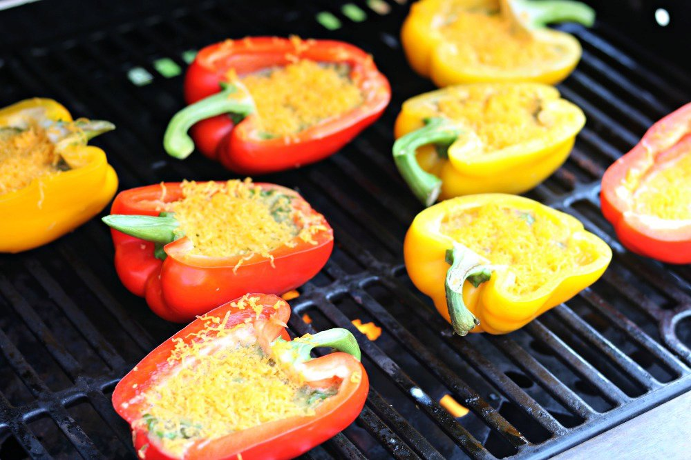 Grilled Egg Stuffed Peppers