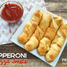 Homemade Pizza Twists made with Crescents