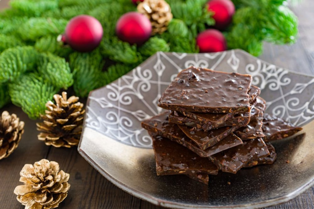 Chocolate Honey Brittle with Cacao Nibs