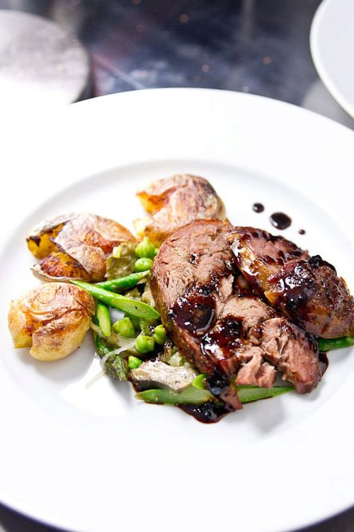 Slow Roasted Lamb with Bordeaux Caramel Recipe