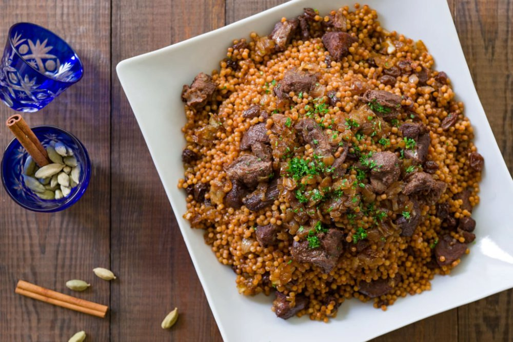 Braised Lamb with Israeli Couscous