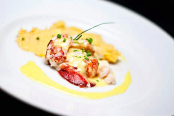 Lobster with Yuzu Hollandaise and Uni Mashed Potatoes