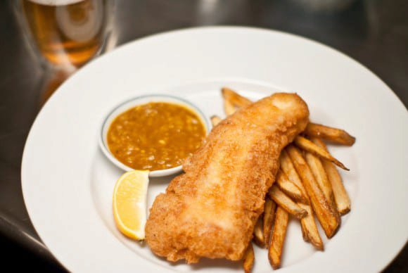 Fish & Chips with Curry Sauce
