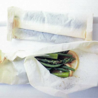 Steamed Vegetables in Parchment