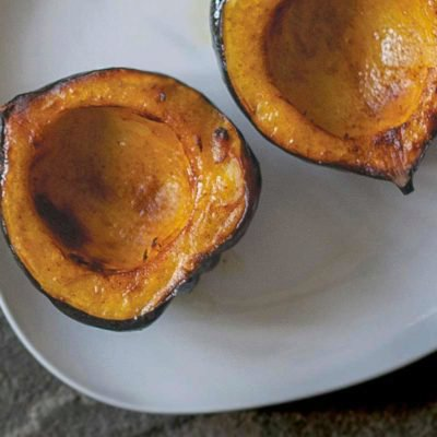 Roasted Acorn Squash With Maple Syrup