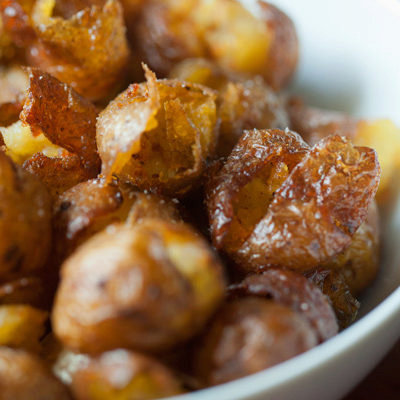 Smoked Pickled Potatoes with Anchovy Aioli
