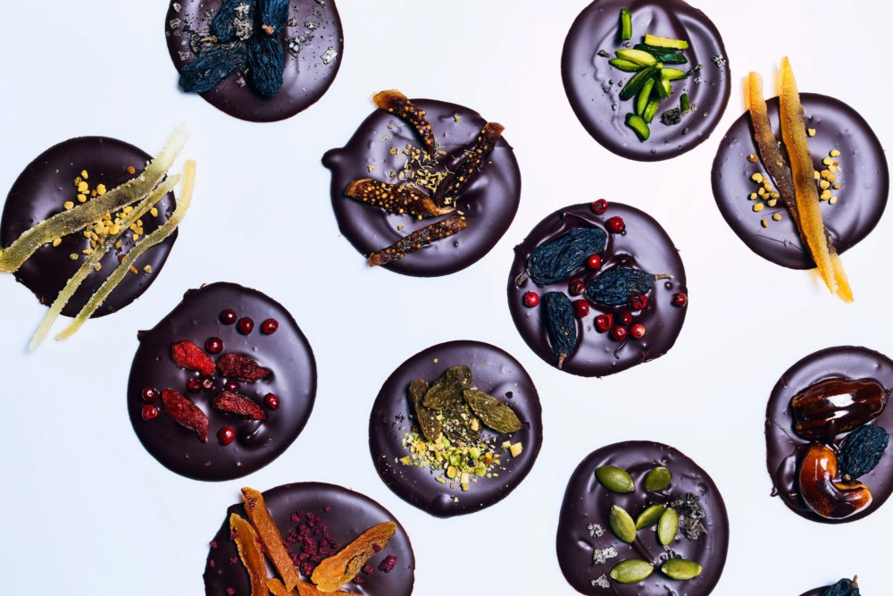 Free-Form Chocolate Candies