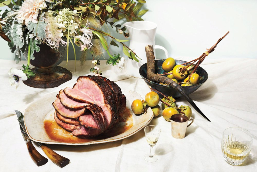 Spicy Tamarind-and-Honey–Glazed Spiral Ham