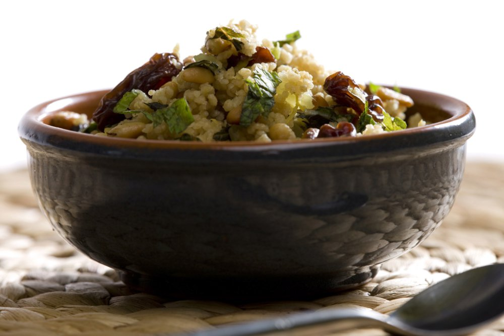 Couscous Salad with Currants, Pine Nuts, and Celery