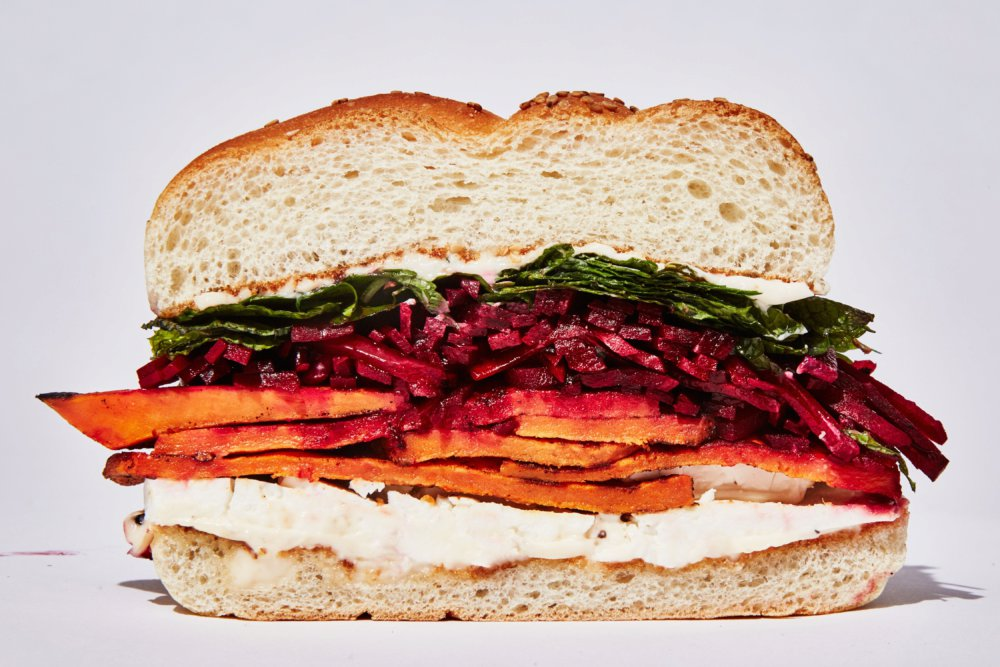 Spiced Sweet Potato Sandwich with Feta
