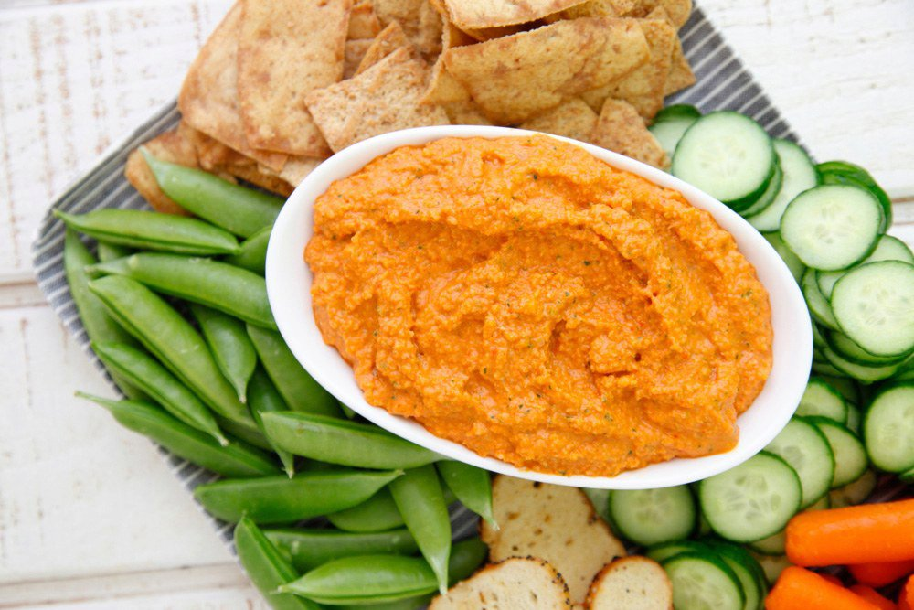 Roasted Red Pepper Almond Dip